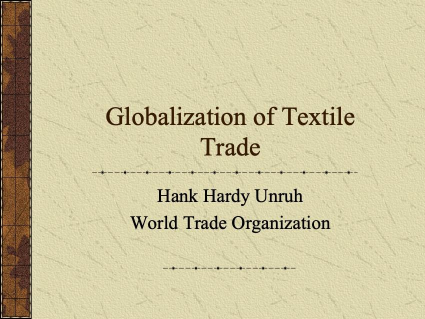 Finland - Globalization of Textile Trade