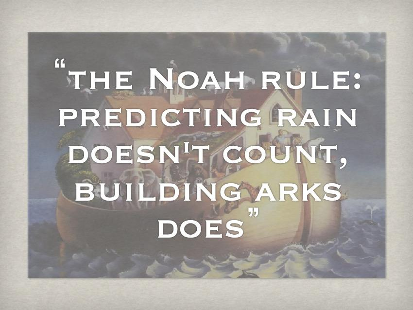 [ppt: those words superimposed on the ark]